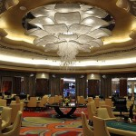 Chandeliers inside Solaire
