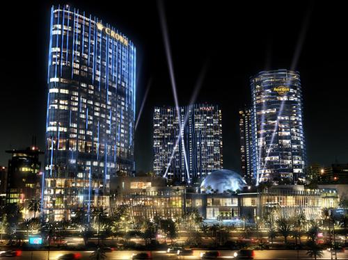 Crown Towers Macau外観夜景